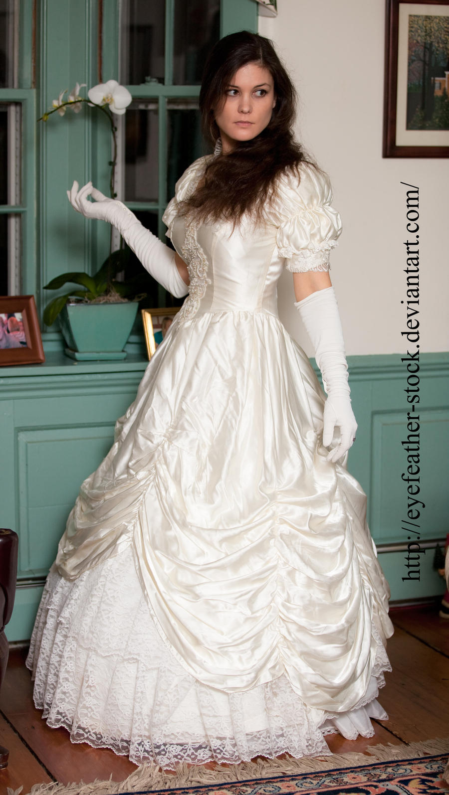 hair down wedding gown by eyefeather-stock