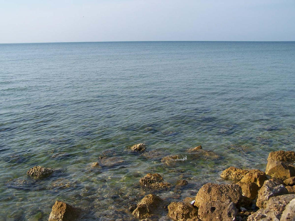 Ocean Rocks 4 by Polly-Stock
