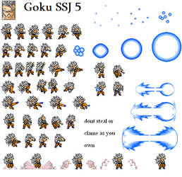 LSW Sprites Goku ssj5 by looking4sprites