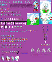 Shadic The Hegehog Sprite Sheet by looking4sprites
