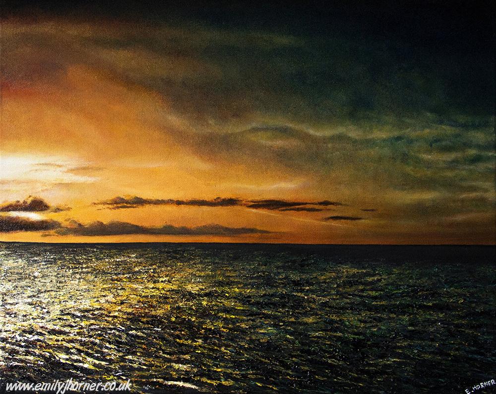 Sunset Seascape by emilyjhorner