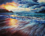 Sunset Shore, Colourful Seascape