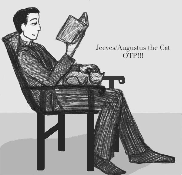 Jeeves the cat lover by ink-n-imp