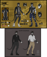 !!Caine ref.sheet!! by CyberRoxX