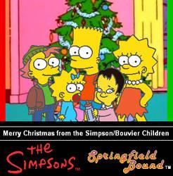 Simpson Children Christmas Card