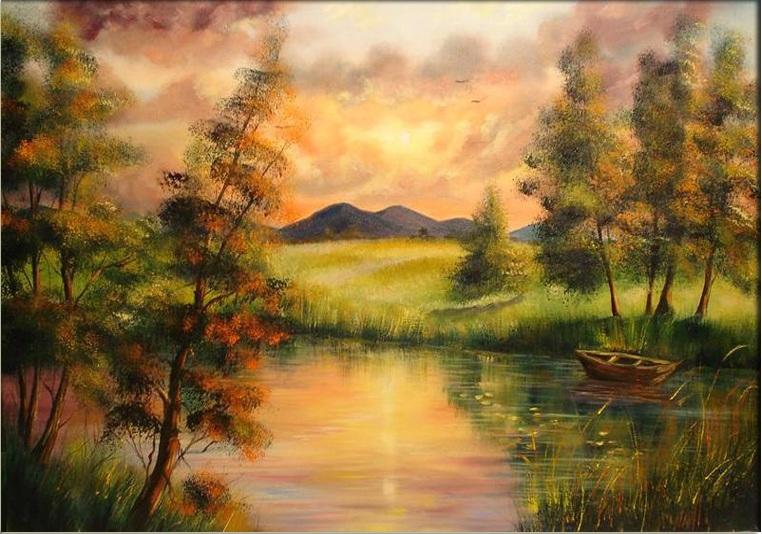 Sunset  Landscape by Kasia1989