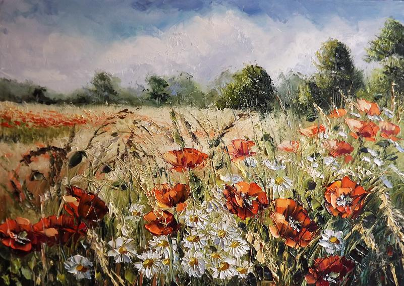 Meadow of Wildflowers by Kasia1989