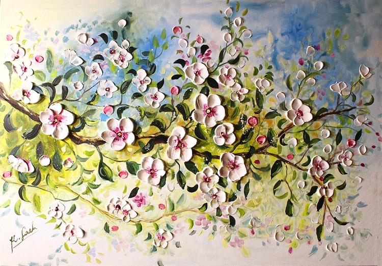 Bloosom Apple tree branch