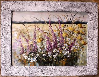 Nostalgic meadow witf beautiful frame by Kasia1989