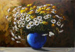 Flowrs in the blue vase