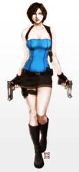 Jill Valentine colored by trixdraws