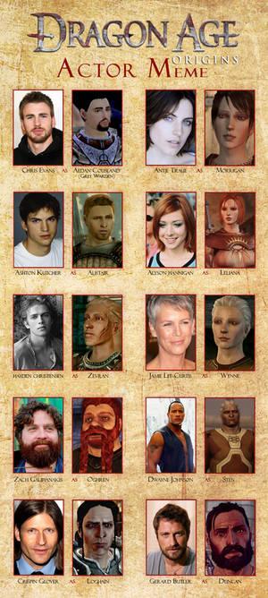 Dragon Age Origins Actor Meme