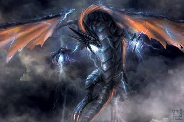 Storm Dragon 2 by trixdraws