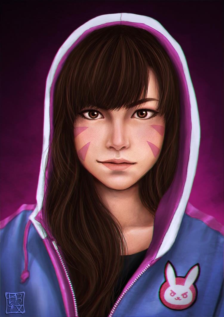 Overwatch - D.va by trixdraws