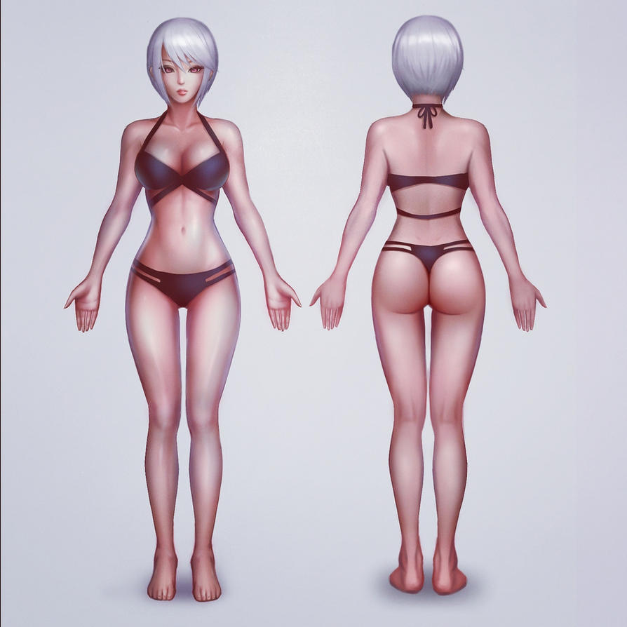 Stylized female anatomy by vixyl on DeviantArt