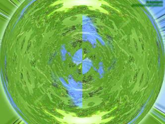 Green Cosmic Sphere by saiy2k