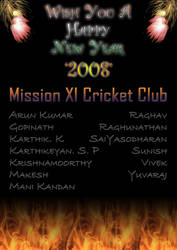 Happy New Year 2008 by saiy2k