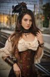 Steampunk. Alexandra . train