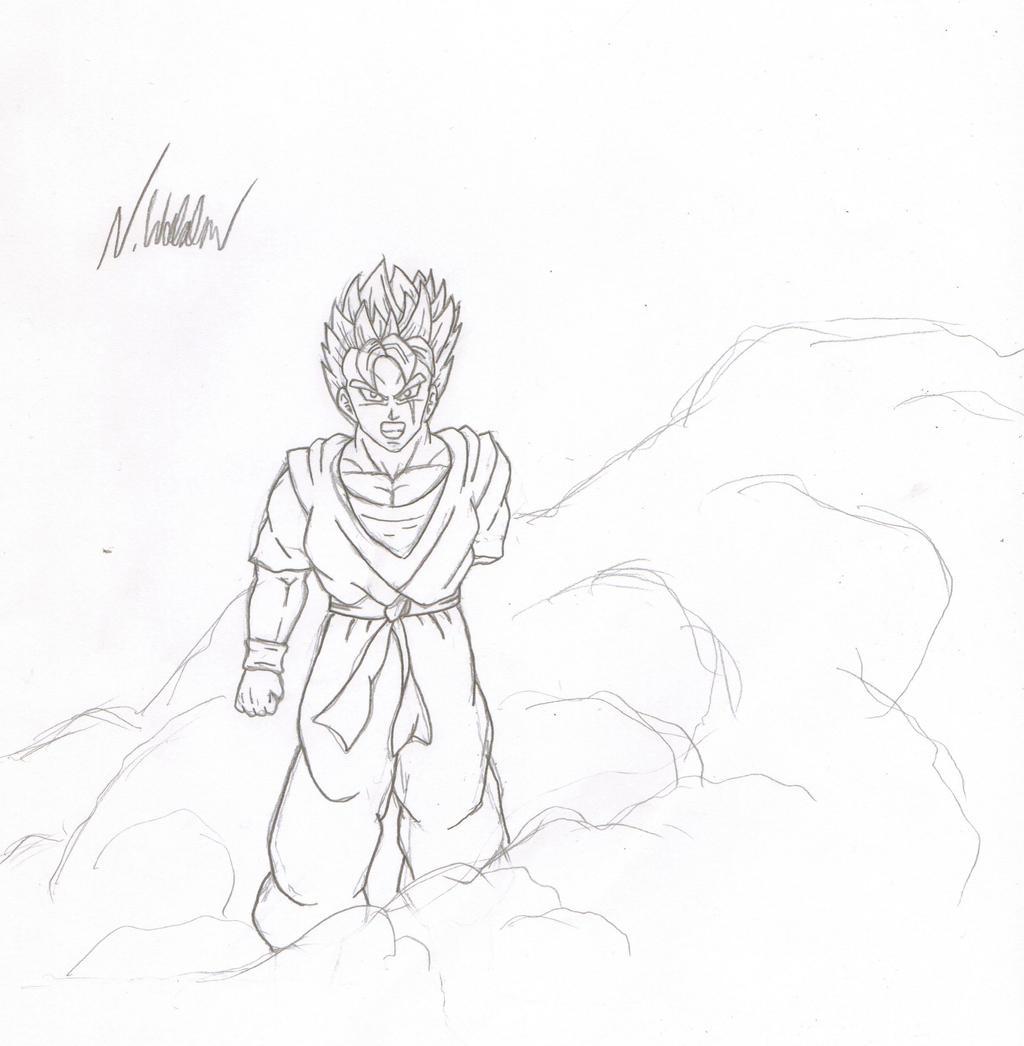 Future Gohan sketchysketchsketch by nial09