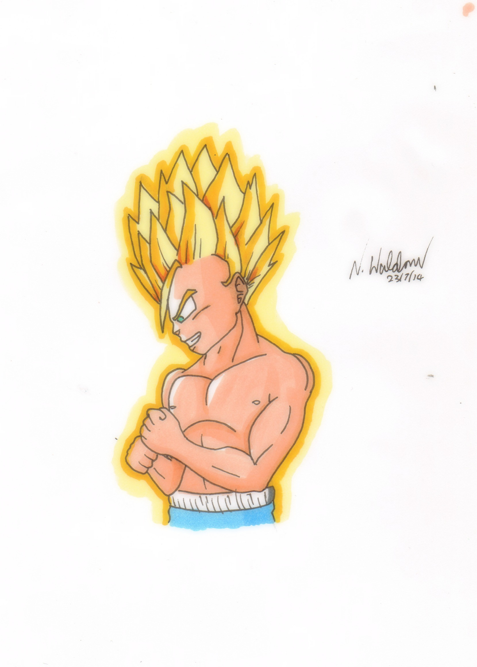 Commission: ssj kid trunks... Again XD by nial09