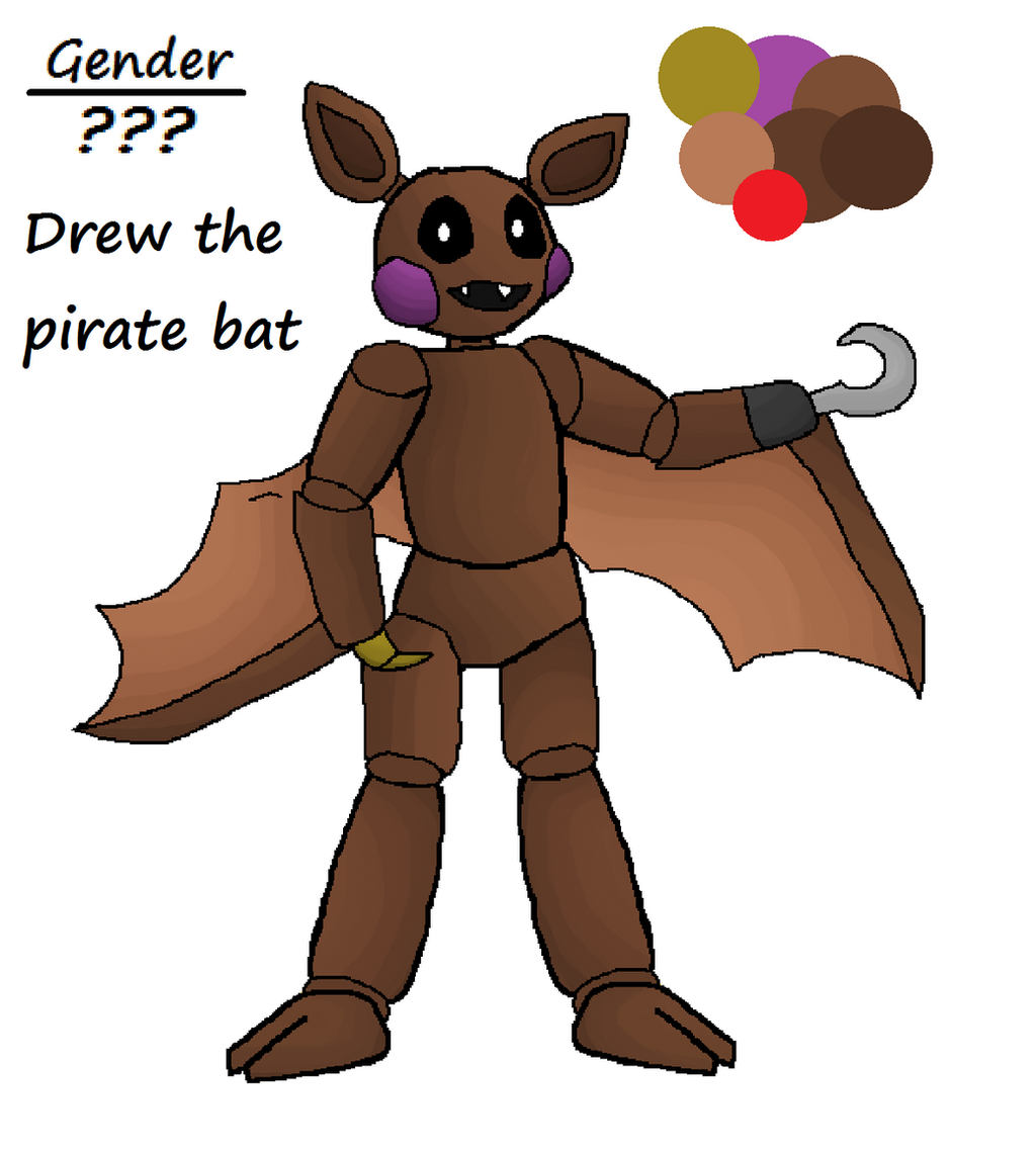 FnaF Oc Drew The Pirate Bat By VetorHuskySamuria On