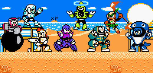Mega Man Eternal II Robot Masters (in Colour) by DiscreteComputation