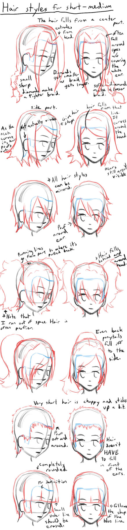 How to Draw Anime Hair Styles by LearntoDrawAnime