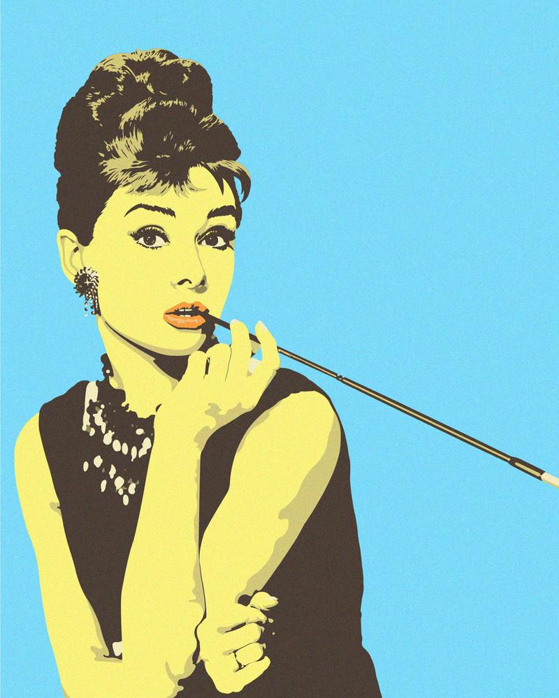 Audrey Hepburn Pop-Art by MaximeHECTOR on DeviantArt