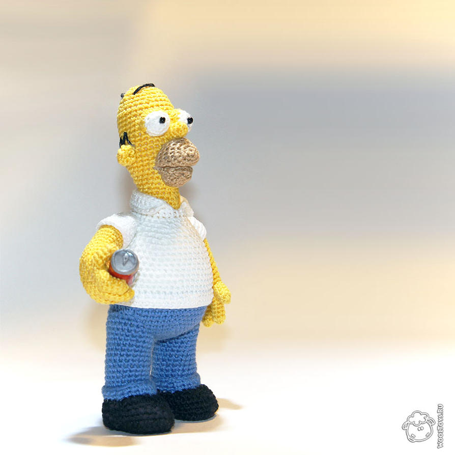 Homer Simpson Crochet Toy by wooltoys-ru