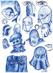 Cobra Commander drawings