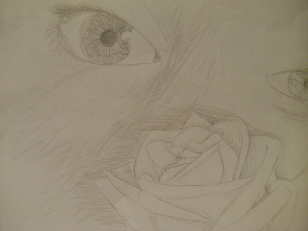 Happy rose with sad eyes