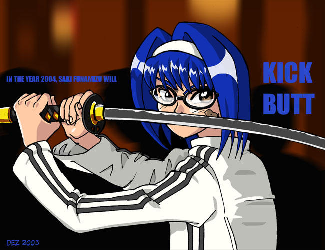 Saki Will Kick Butt by OmegaDez
