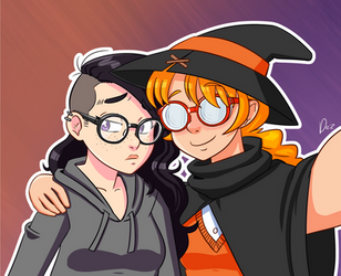 Witchy Selfie by OmegaDez