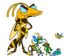 Skylanders bugs in Best Fiends style by gameandshowlover