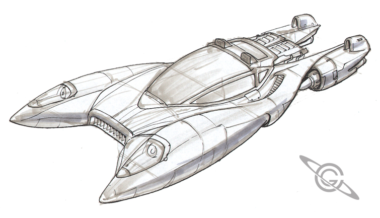 Sky Car Sketch by MeckanicalMind