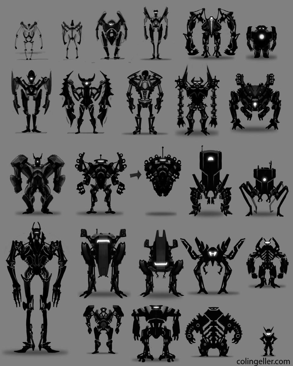 Arte em 3D do Robô de Ação Robot_Thumbnails_1_by_MeckanicalMind