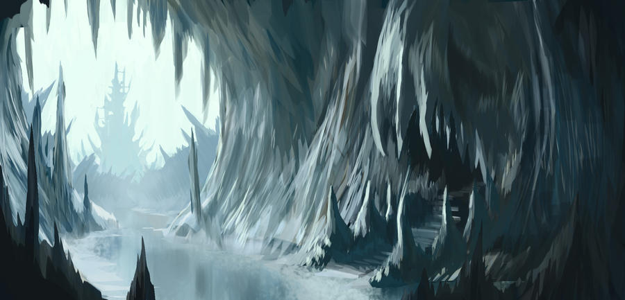 Ice Cave by MeckanicalMind