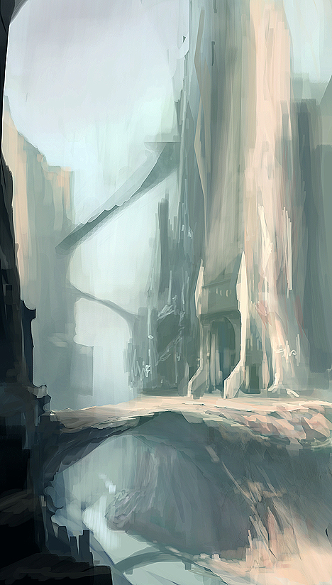 Valley Sketch by MeckanicalMind
