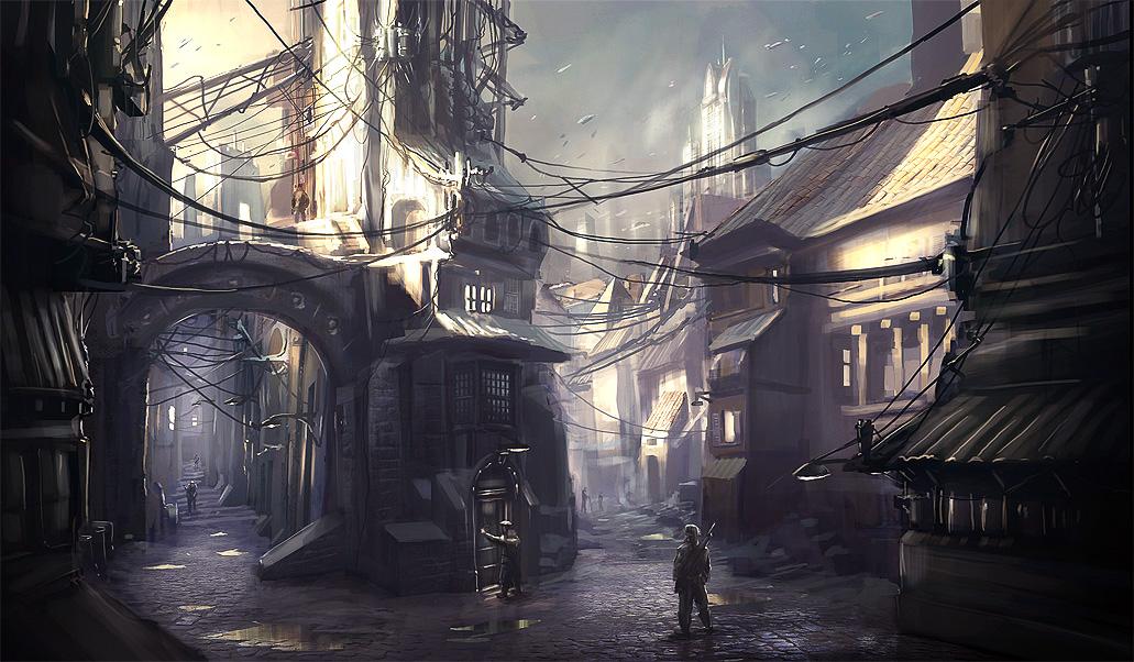 [Flashback - 1499] Tout n'est que folie. [Pv : Skygge D. Walker] Old_Town_by_MeckanicalMind