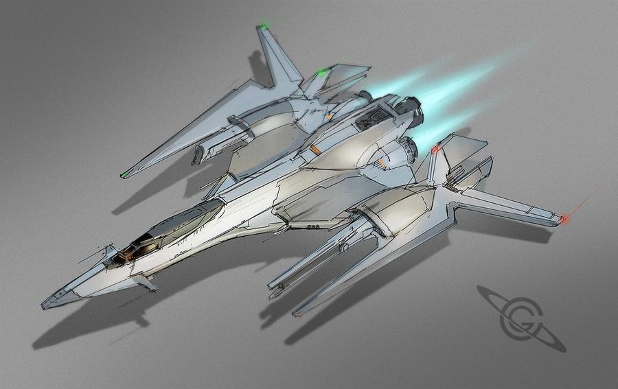 Starfighter Sketch by MeckanicalMind