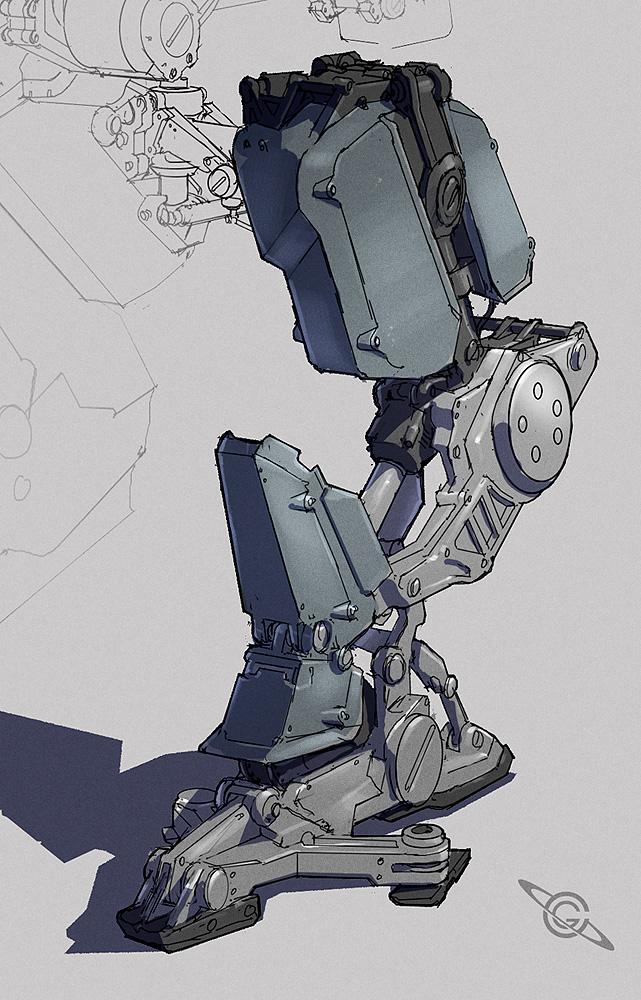 Mech Leg by MeckanicalMind