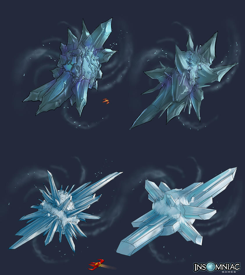RCF2: Ice Asteroids by MeckanicalMind