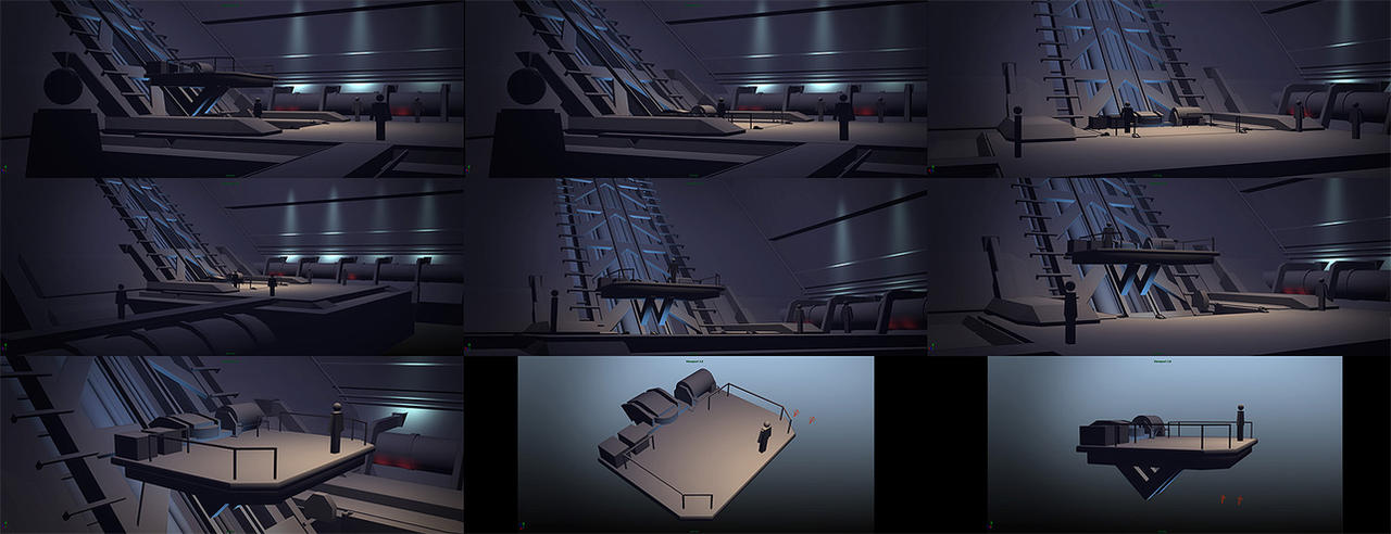 Elevator Room Roughs by MeckanicalMind