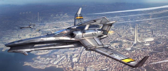 Aerial Fighter by MeckanicalMind