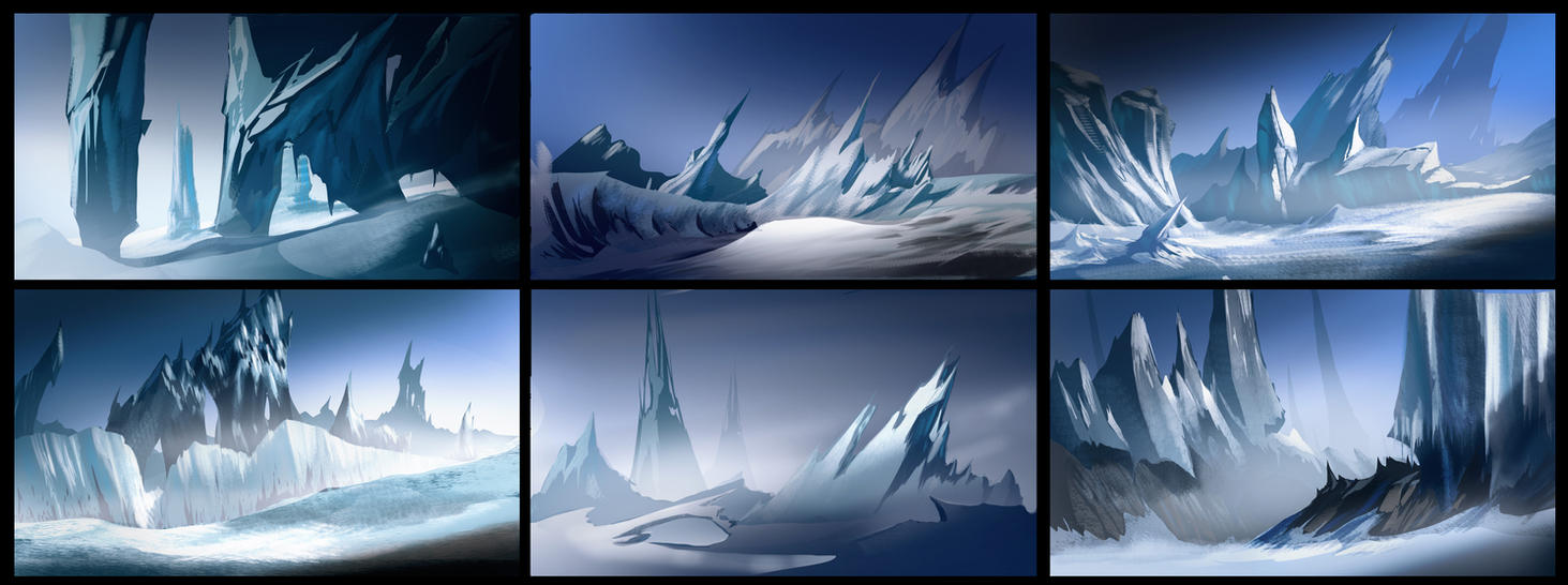 Ice World Thumbnails by MeckanicalMind