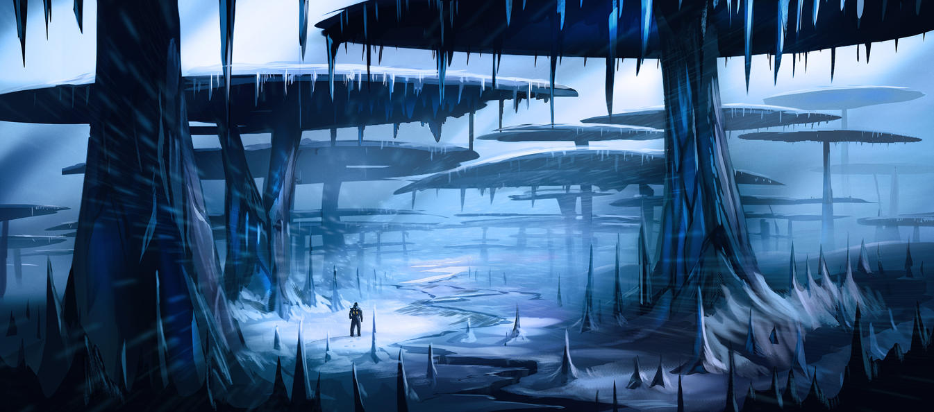 Ice Planet Forest by MeckanicalMind