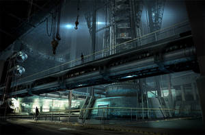 FUSE Underwater Base Interior by MeckanicalMind