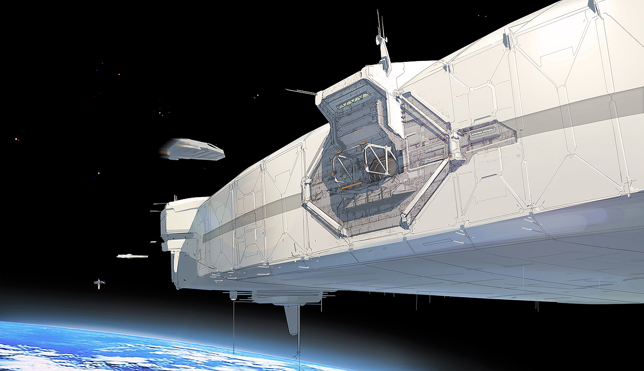 inside space ship docking station - photo #4