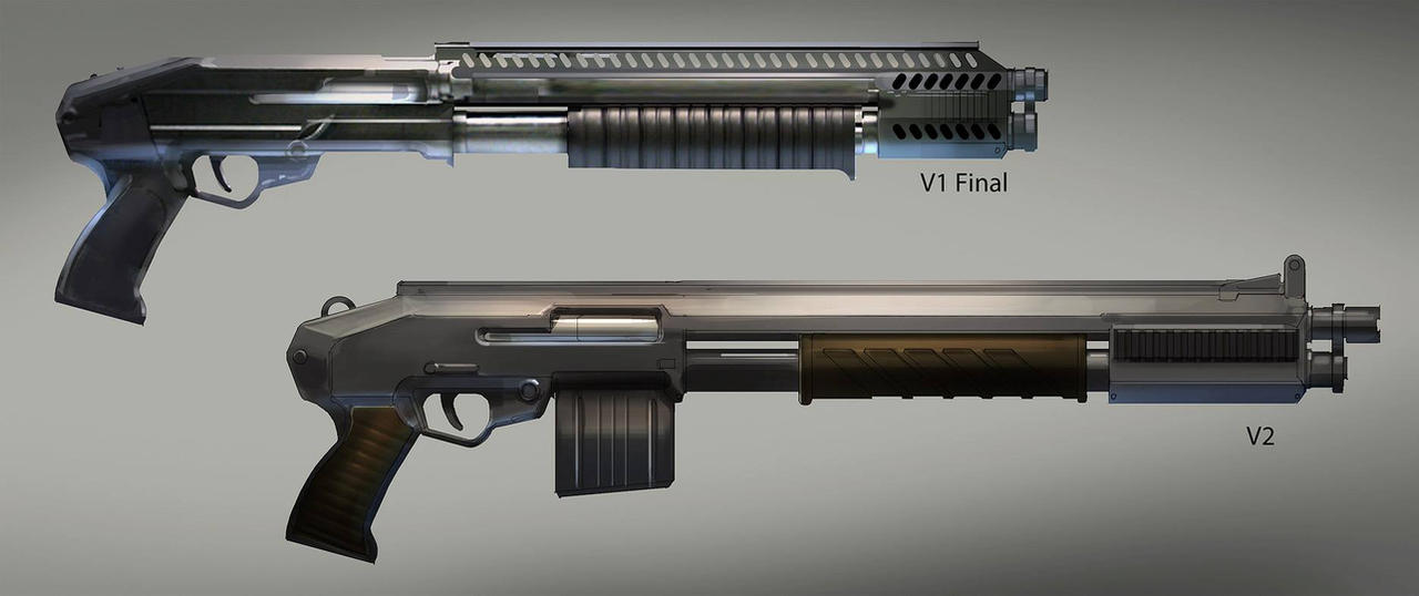 FUSE Shotgun Sketches by MeckanicalMind
