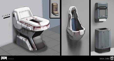 DOOM - Restroom Props by MeckanicalMind